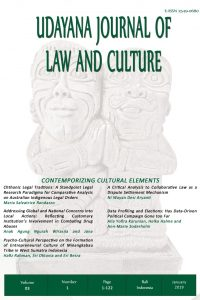 Udayana Journal Law and Culture